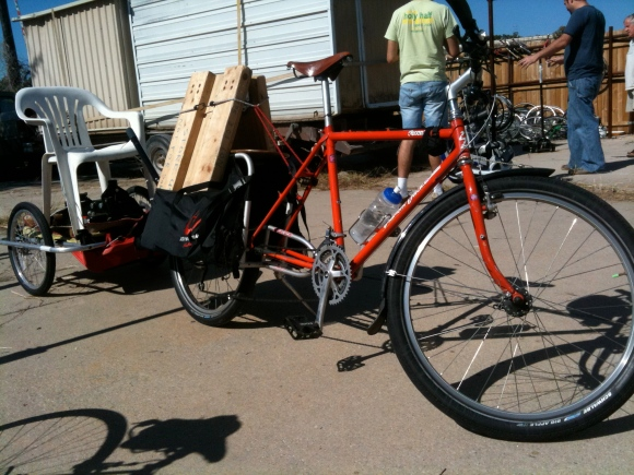 xtracycle pulling trailer