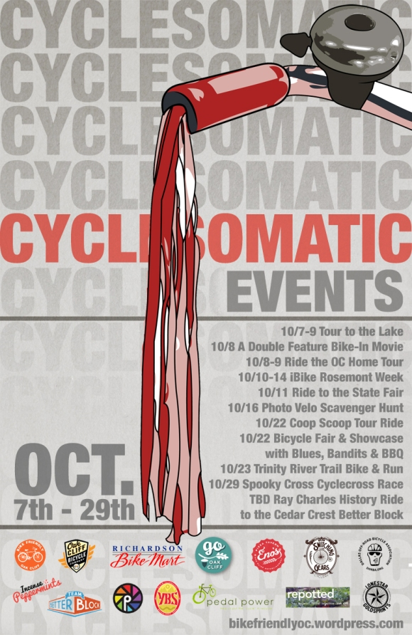 Cyclesomatic 2011 Oct event calendar