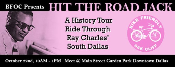 Bike Friendly Oak Cliff Ray Charles history ride